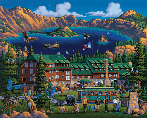 """""""Crater Lake"""" 500 Piece Jigsaw Puzzle 
