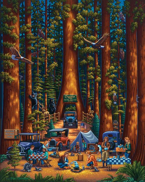 """Redwood National Park"" 500 Piece Jigsaw Puzzle | Dowdle"