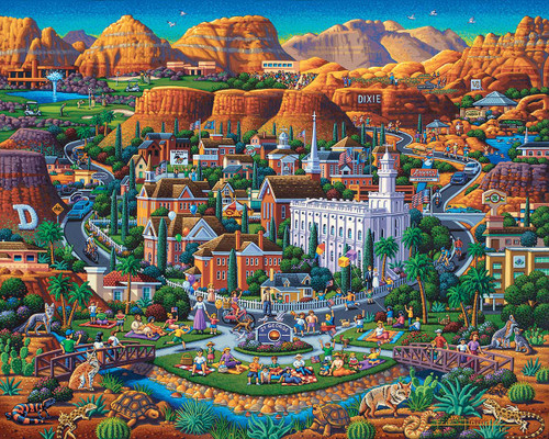 """Utah's Dixie"" 500 Piece Jigsaw Puzzle | Dowdle"