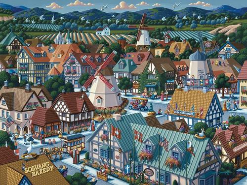 """Solvang"" 1000 Piece Jigsaw Puzzle | Dowdle"