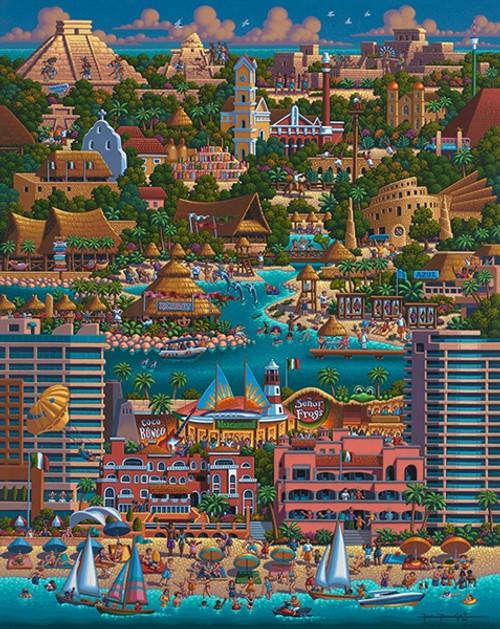 """Cancun"" 1000 Piece Jigsaw Puzzle | Dowdle"