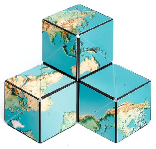 "Geometric Shape Shifting Magnetic Transformation Cube ""Earth"" | Shashibo"