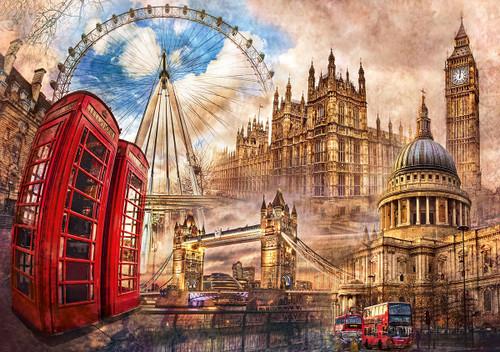 """""""Vintage London"""" 1500 Piece Jigsaw Puzzle   Clementoni"""