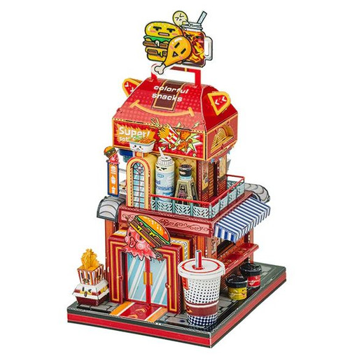 """Hamburger Shop"" Metal Model Kit 