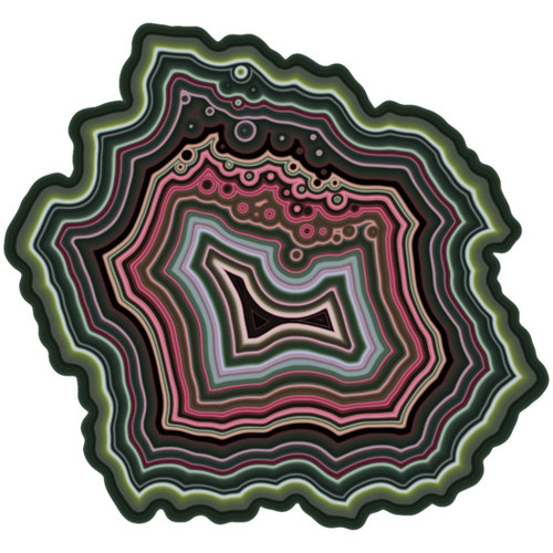 """Agate"" One-Of-A-Kind Wooden 180 Piece Jigsaw Puzzle *Maze Style Cut* 