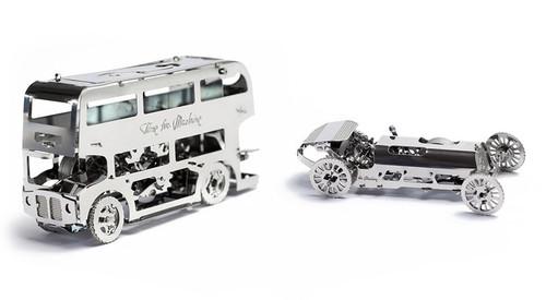"""Tiny SportCar"" Mechanical Metal Model Kit   T4M"