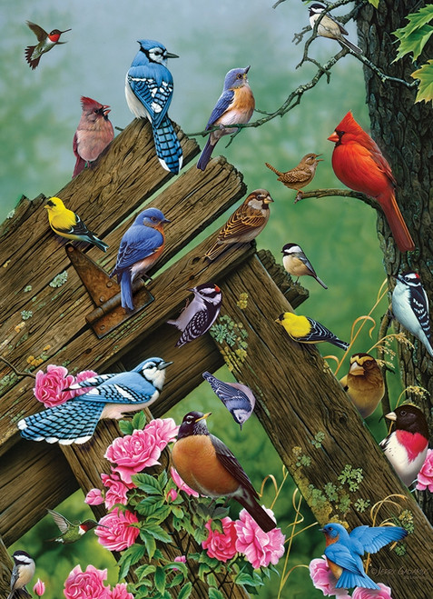 """Birds of the Forest"" 1000 Piece Jigsaw Puzzle 