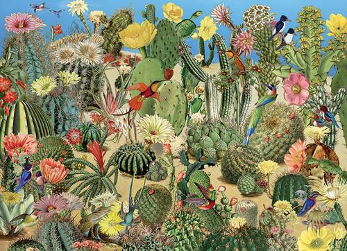 """Cactus Garden"" 1000 Piece Jigsaw Puzzle | Cobble Hill"