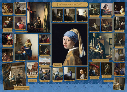 """Vermeer"" 1000 Piece Jigsaw Puzzle 