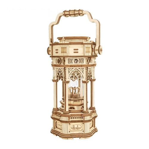 """Victorian Lantern"" Mechanical Wooden Model Music Box Kit 