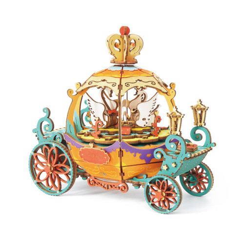 """Pumpkin Carriage"" Wooden Model Music Box Kit 