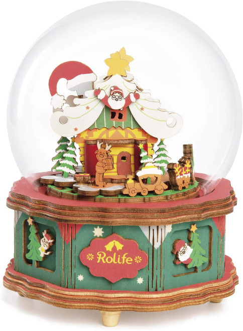 """Christmas Town"" DIY Wooden Music Box Kit 