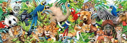 """Wildlife Panoramic"" 1000 Piece Jigsaw Puzzle 