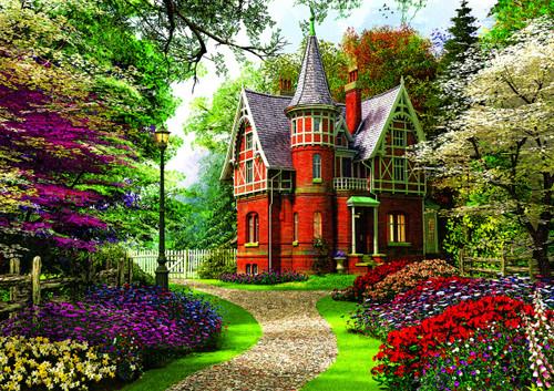 """Victorian Cottage"" 1000 Piece Jigsaw Puzzle | Trefl"