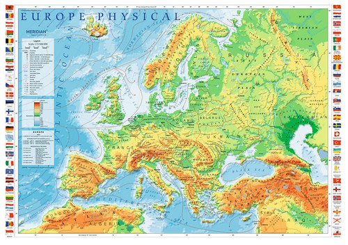 """Europe Physical Map"" 1000 Piece Jigsaw Puzzle 