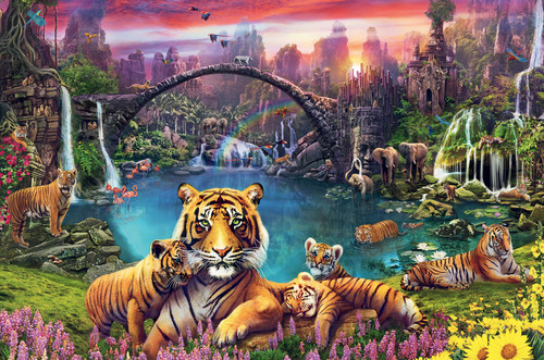 """""""Tigers In Paradise"""" 3000 Piece Jigsaw Puzzle   Ravensburger"""