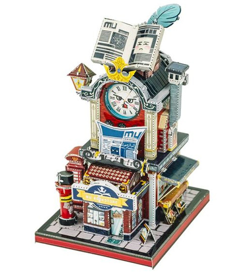"""Bookstore"" Metal Model Kit 