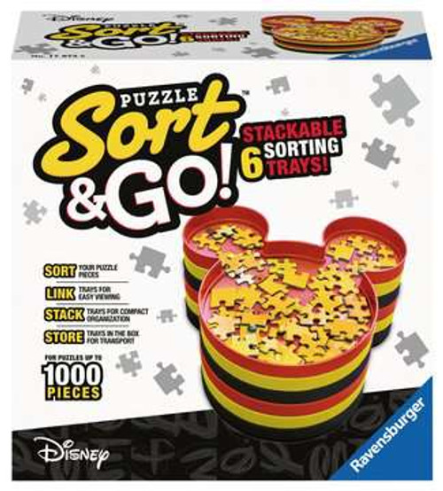 """Mickey's Sort & Go!"" 6 Puzzle Sorting Trays 