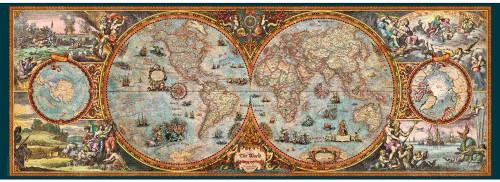 """Hemisphere Map"" 6000 Piece *Panorama* Jigsaw Puzzle | Heye"