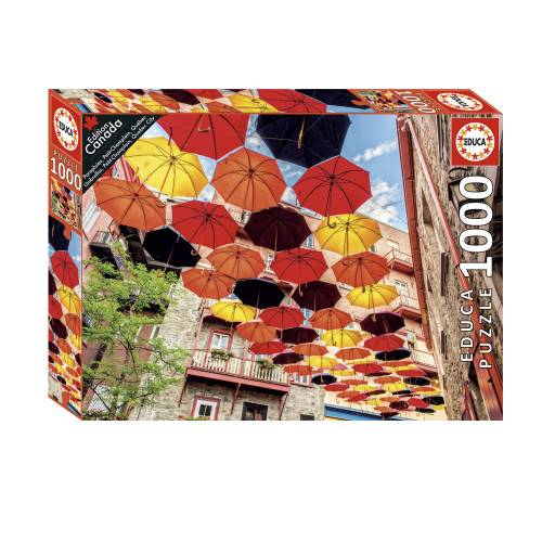 """Umbrellas, Petit-Champlain, Quebec City"" 1000 Piece Jigsaw Puzzle | Educa"