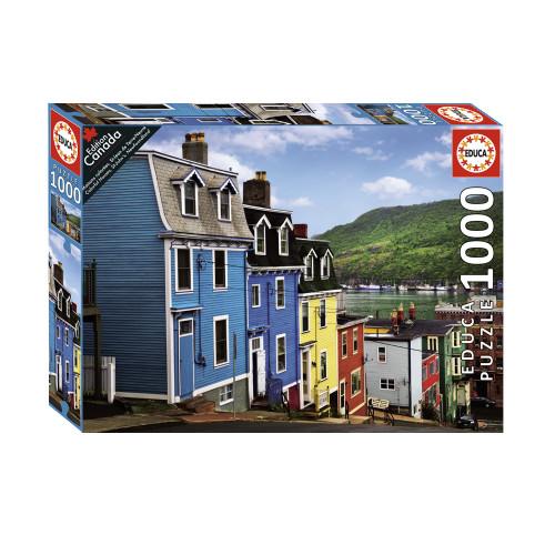 """Colourful Houses, St-John's Newfoundland"" 1000 Piece Jigsaw Puzzle | Educa"