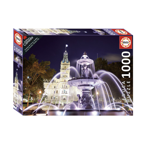 """Tourny Fountain, Quebec City"" 1000 Piece Jigsaw Puzzle | Educa"