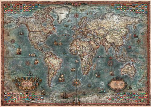 """Historical World Map"" 8000 Piece Jigsaw Puzzle | Educa"