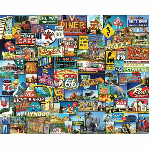 """Roadside America"" 1000 Piece Jigsaw Puzzle | White Mountain"