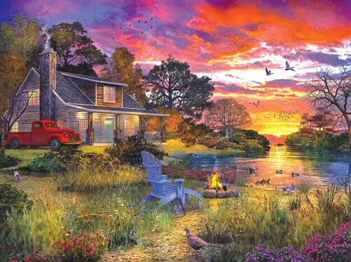 """""""Evening Cabin"""" 1000 Piece Jigsaw Puzzle 