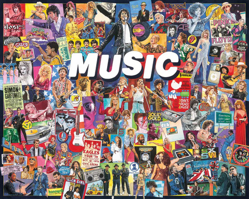 """Music"" 1000 Piece Jigsaw Puzzle | White Mountain"