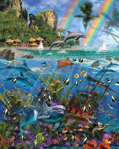 """Tropical Treasures"" 1000 Piece Jigsaw Puzzle | White Mountain"