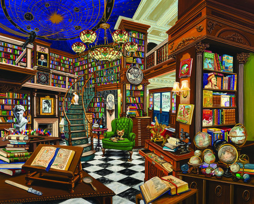 """Rare Book Store"" 1000 Piece Jigsaw Puzzle | White Mountain"