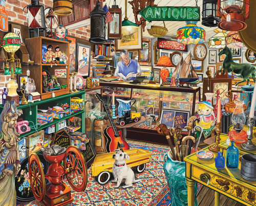 """Antique Store"" 1000 Piece Jigsaw Puzzle | White Mountain"