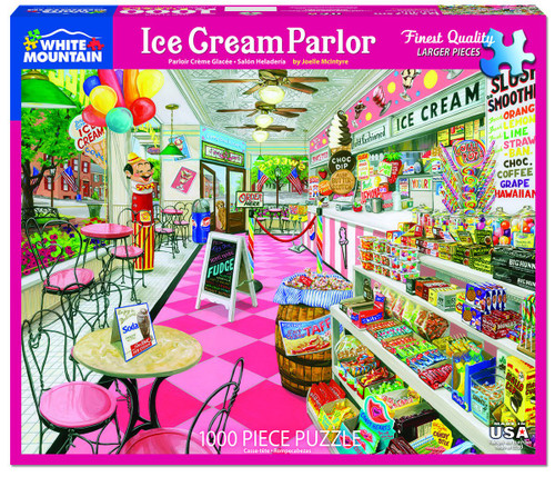 """""""Ice Cream Parlor"""" 1000 Piece Jigsaw Puzzle 