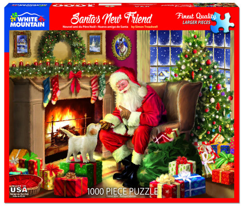 """Santa's New Friend"" 1000 Piece Jigsaw Puzzle | White Mountain"