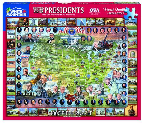 """United States Presidents"" 1000 Piece Jigsaw Puzzle | White Mountain"