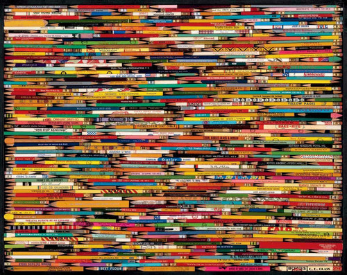 """""""Pencil Collage"""" 1000 Piece Jigsaw Puzzle 