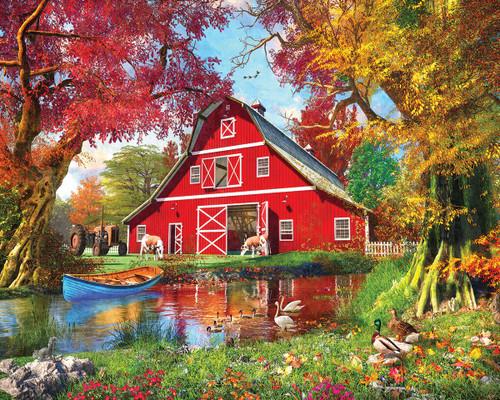 """Sunny Barn"" 1000 Piece Jigsaw Puzzle | White Mountain"
