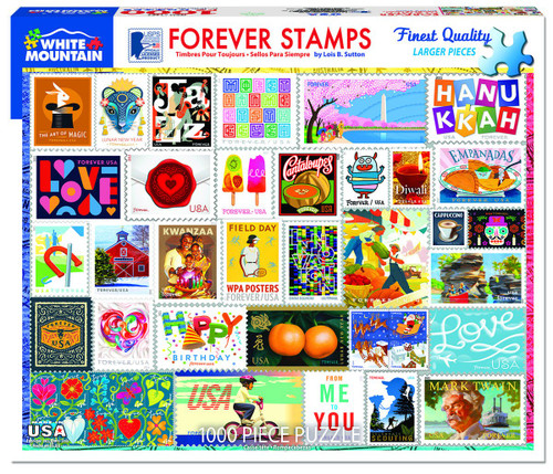 """""""Forever Stamps"""" 1000 Piece Jigsaw Puzzle 