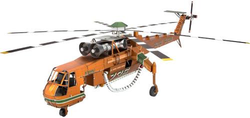 """S-64 Skycrane Helicopter"" Metal Model Kit | Metal Earth"