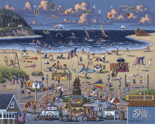 """""""Seaside"""" 500 Piece Jigsaw Puzzle   Dowdle"""