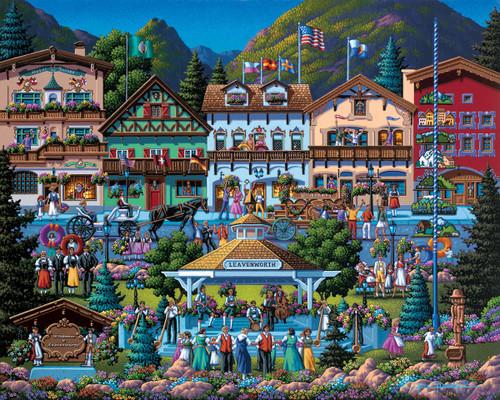 """Leavenworth"" 500 Piece Jigsaw Puzzle | Dowdle"