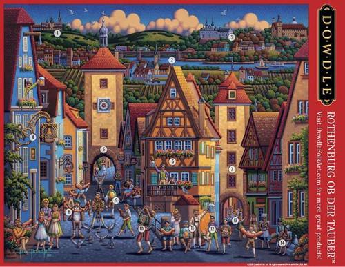 """Rothenburg ob der Tauber"" 500 Piece Jigsaw Puzzle | Dowdle"