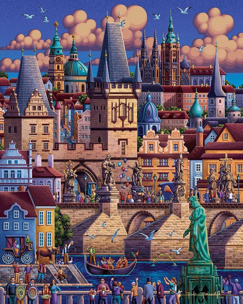"""Prague"" 500 Piece Jigsaw Puzzle | Dowdle"