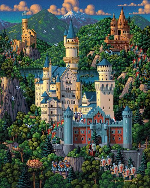 """Neuschwanstein Castle"" 1000 Piece Jigsaw Puzzle | Dowdle"