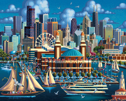 """Chicago Navy Pier"" 1000 Piece Jigsaw Puzzle | Dowdle"