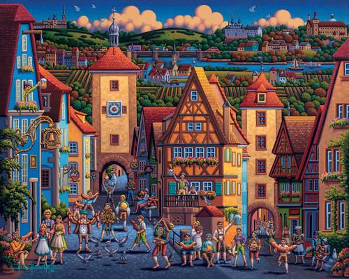 """Rothenburg ob der Tauber "" 1000 Piece Jigsaw Puzzle | Dowdle"