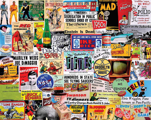 """The Fabulous 50's"" 1000 Piece Jigsaw Puzzle | White Mountain"