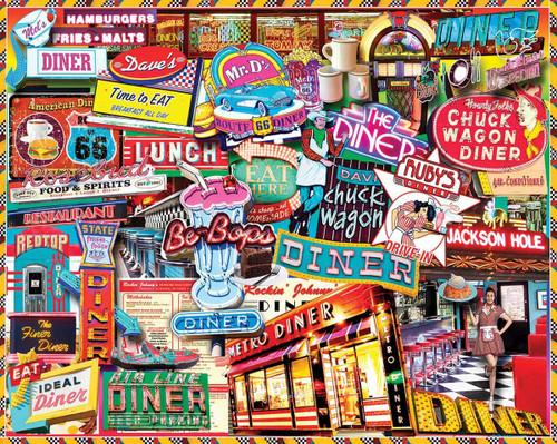 """Retro Diner"" 1000 Piece Jigsaw Puzzle | White Mountain"