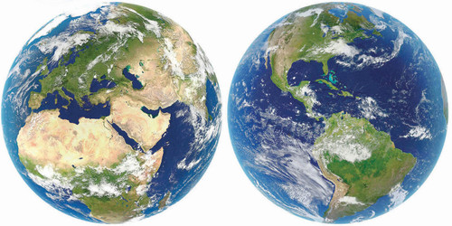 """""""Planet Earth"""" 2x 800 Piece Round Jigsaw Puzzles 